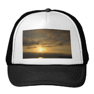 Sunset on the french coast of atlantic ocean trucker hat