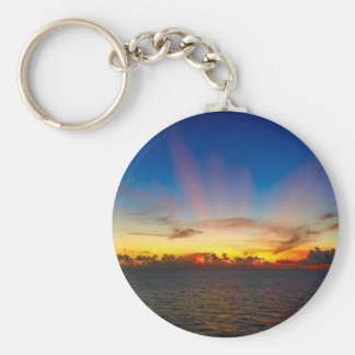 Sunset on The Gulf of Mexico Key Ring