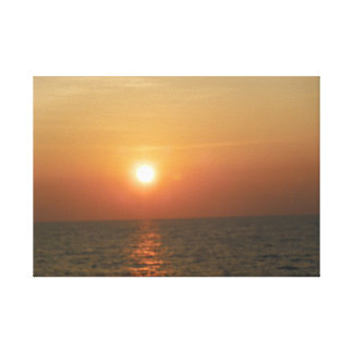 Sunset on the Gulf of Mexico Stretched Canvas Prints