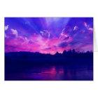 Sunset on the Horizon Card