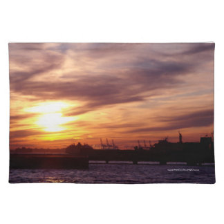 Sunset on the Hudson Place Mats