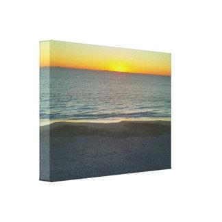 Sunset on the Indian Ocean sponge art Canvas Print