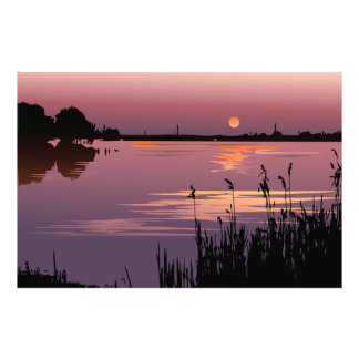 Sunset On The Lake Photo Print