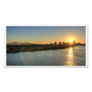 Sunset on the Mississippi Photo Print