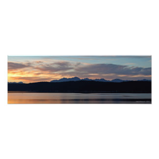 Sunset on the Olympic Mountains at Hood Canal Photograph