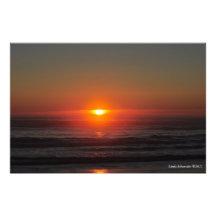 Sunset on the Pacific Ocean near Moclips, WA Art Photo