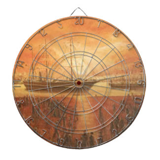 Sunset on the Past Dartboard