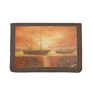 Sunset on the Past Trifold Wallet
