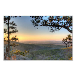 Sunset on the Petit Jean river valley Arkansas Photographic Print