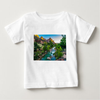Sunset on the River in Zion, Utah Baby T-Shirt
