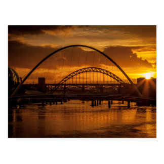 Sunset on the River Tyne Postcard