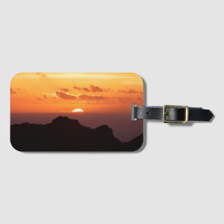 Sunset on the sea luggage tag