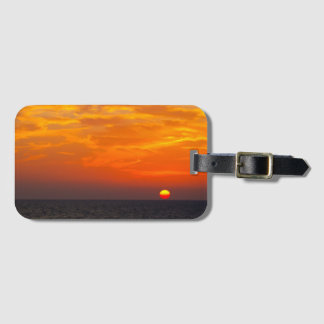 Sunset on the sea luggage tag