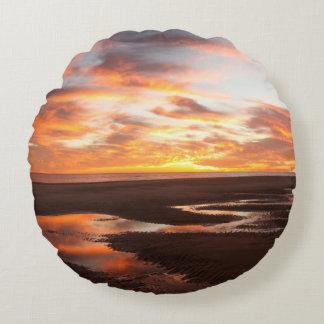 Sunset On The Sea Of Cortez Round Cushion