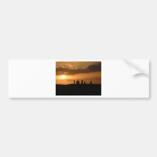 Sunset on the Stones Bumper Sticker