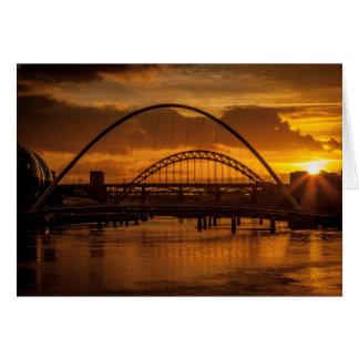 Sunset on the Tyne Greeting Card