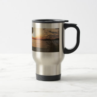 Sunset on the Water Stainless Steel Travel Mug