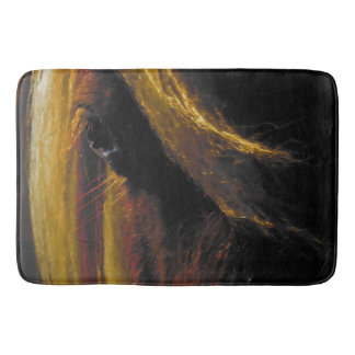 Sunset on the Wild Bath Mat Western Horse