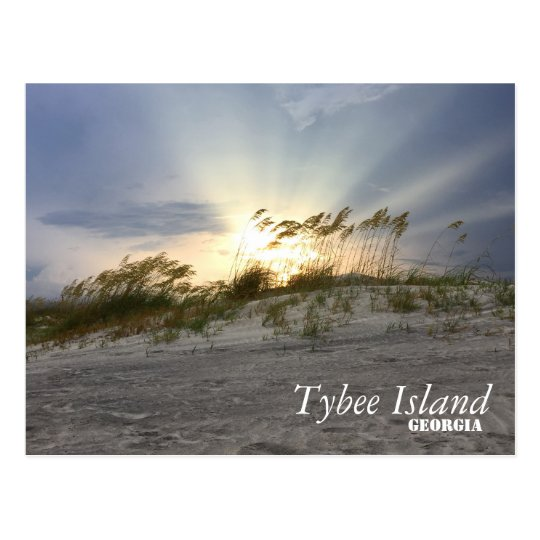 Sunset on Tybee Island, Georgia Postcard