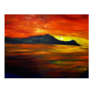 Sunset on Waikiki Beach Post Card