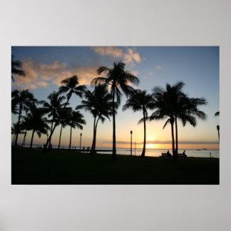 Sunset on Waikiki - Poster