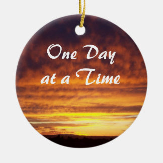 Sunset One Day at a Time ornament