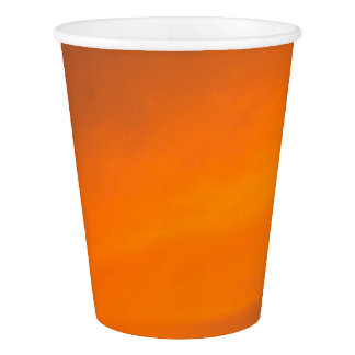 Sunset Orange Abstract Art Disposable Paper Cups