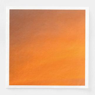 Sunset Orange Abstract Art Paper Dinner Napkins Disposable Serviette