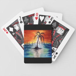 Sunset Orange Card Deck Poker Deck