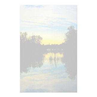 Sunset over a Lake Stationery