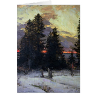 Sunset over a Winter Landscape, c.1902 Card