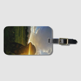 Sunset over Boulder Colorado Luggage Tag