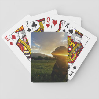 Sunset over Boulder Colorado Playing Cards
