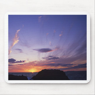 Sunset over Cornwall's Atlantic Ocean Mouse Mat