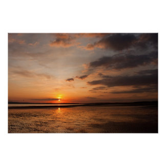 Sunset over England's south coast Poster