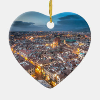Sunset over Florence from Il Duomo Christmas Ornament