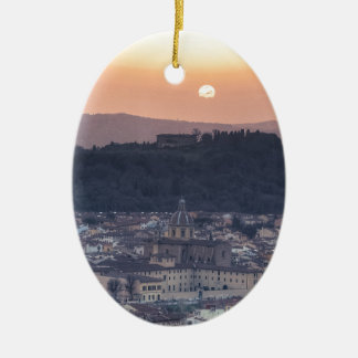 Sunset over Florence, Italy Ceramic Oval Decoration