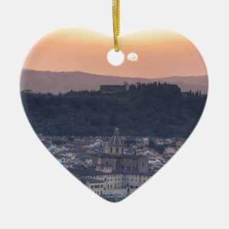 Sunset over Florence, Italy Christmas Ornament
