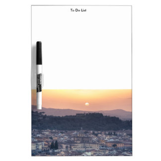 Sunset over Florence, Italy Dry Erase Board