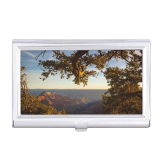 Sunset over Grand Canyon Business Card Holder