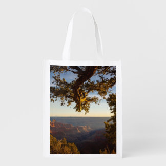 Sunset over Grand Canyon Reusable Grocery Bags