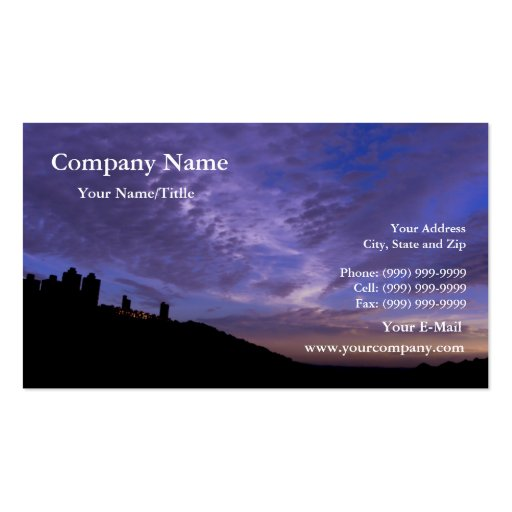 Sunset Over Hill Business Card
