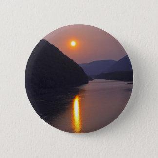 Sunset over Hyner Pennsylvania 6 Cm Round Badge