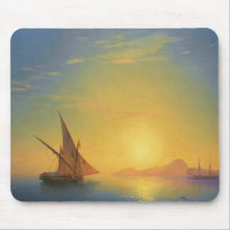 Sunset over Ischia Ivan Aivazovsky seascape waters Mouse Pad