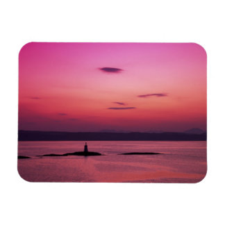 Sunset over Isle of Skye, from Mallaig, Rectangular Photo Magnet
