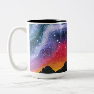 Sunset Over Joshua Tree - Galaxy Coffee Mug