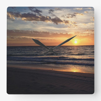 Sunset Over Jurien Bay, Western Australia Square Wall Clock