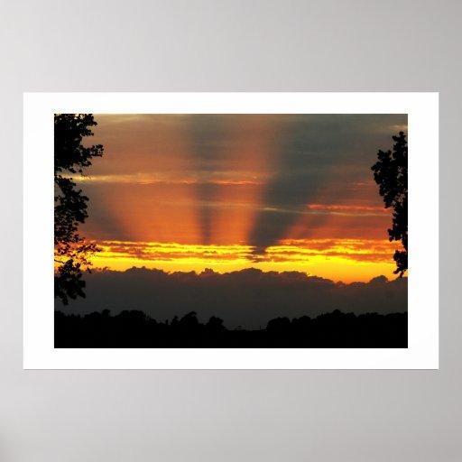 Sunset Over Lands End Poster