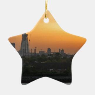 Sunset over London Christmas Ornament
