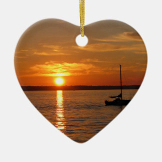 Sunset Over Lummi Island Christmas Ornament
